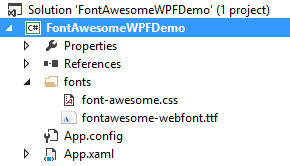 Using Font Awesome in WPF | Benkirane